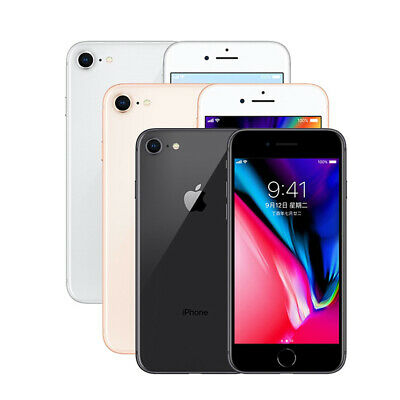 Apple iPhone 8 - 64GB 256GB Gray/Silver/Gold Factory Unlocked