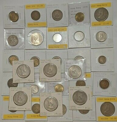 31 Lot Mixed Hong Kong Coins World Foreign Estate
