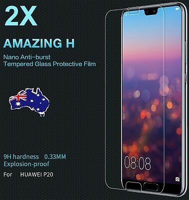 2X Scratch Resist Tempered Glass Screen Protector for Huawei p20 p9 mate 7 bg
