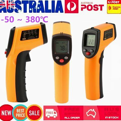 Portable Digital Infrared Thermometer Temperature Laser Gun Meter-50~ 380℃ wY