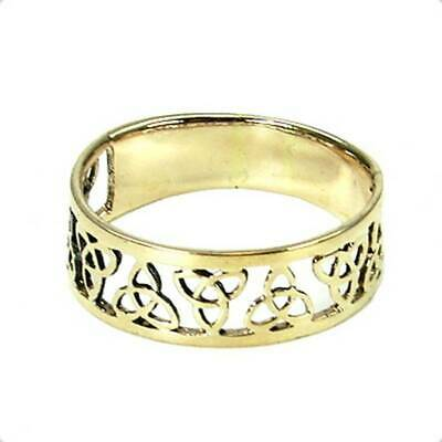 Celtic Triquetta Ring Bronze Symbol Folklore Jewelry - New