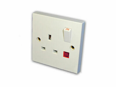 1 Gang Switched Electrical Socket w/ Pilot Light (13 Amp)