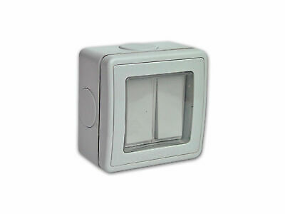 Outdoor Electric Switch (2 Gang, 2 Way, 16 Amp)