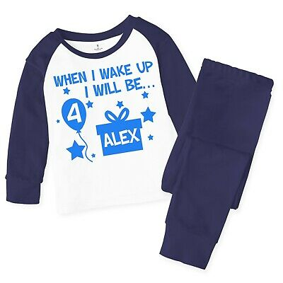 Personalised When I Wake Up Children's Baby Pyjamas Pjs Kids Birthday Pyjama 136