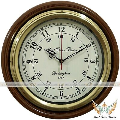 Vintage Buckingham 1837 Wall Clock With Brass Ring Antique Style Gift Item