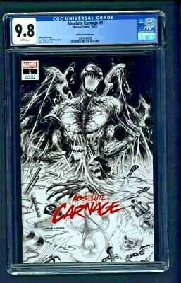 Absolute Carnage #1 CGC 9.8 Tyler Kirkham Sketch Cover B&W Variant Edition 2019