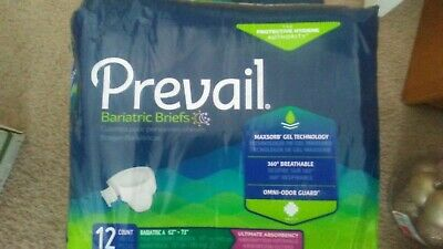Prevail Bariatric Briefs - Bariatric B Up To Up to 73' W 3 Packages