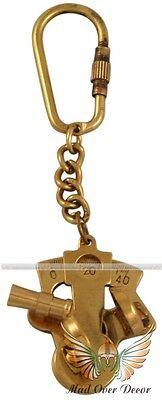 Brass Pocket Sextant Key Chain Nautical Astrolabe Marine Collectible Gift Item