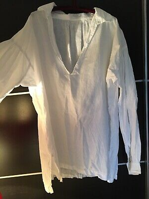 1700-1800 Style Men's Linen Shirt Size L/Darcy, Poldark Style/from Darcyclothing