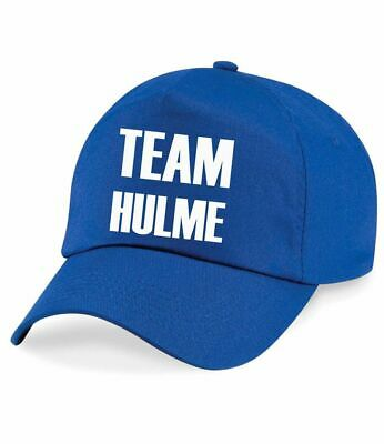 Adult Personalised Team Name Baseball Cap Girls Mum Dad Present Family Twinning