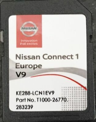 Carte SD GPS Europe 2019 V9 - Nissan Connect 1 - Database Q3.2017