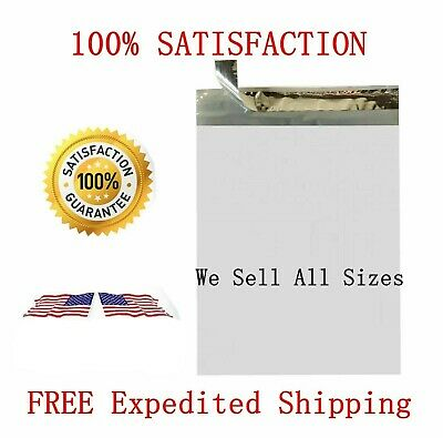 Poly Mailers Tear Proof Plastic Envelopes Shipping Bags 2.2 Mil White Premium *