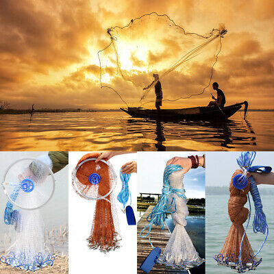 "6 FT Cast Net with 3//8/"" mesh and ChaiN BottoM Panel Design Best Quality"