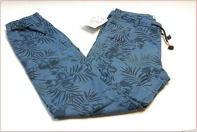 Zara boys trousers blue jeans print size 9-10 years 140 cm new clothes