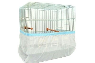"""Bird Cage Cover Seed Catcher Guard Tulle Mesh  Small S Cir 44"""" Buy 3 Get 1 Free"""