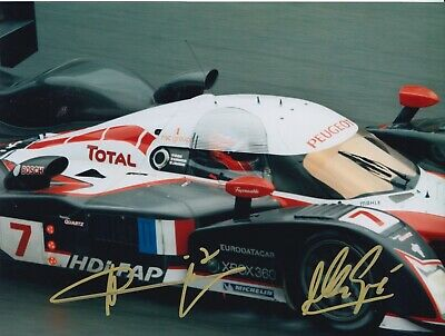 Marc Gene and Nicolas Minassian Hand Signed 8x6 Photo - Le Mans Autograph.