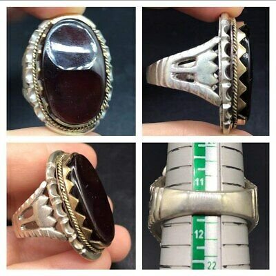 Beautifull Old Yamni Agte Solid Sliver Wonderfull Persian Ring