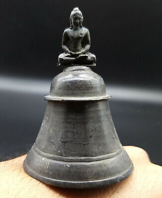 Rare Unique Old Buddhain Buddah On Top Bronze Wonder Hand Ring Bill