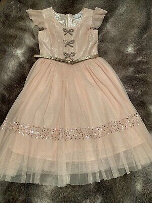 Girls Dress Next Pink size 11 years with belt any occasion