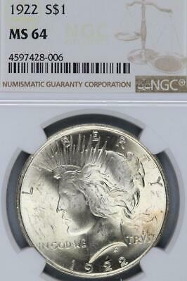 1922 Peace Silver Dollar NGC MS64  - *DoubleJCoins* 3005-15