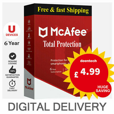 McAfee Total Protection 2020 10 Devices🔰 6 Years Protection Genuine License🔥