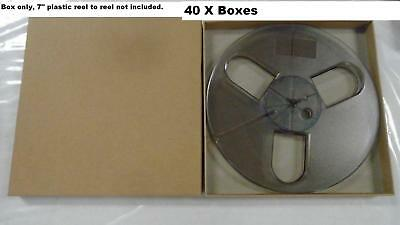 """40 ACID FREE Empty Box Case Record 45 bag Reel to Reel Master 1/4"""" tape 7"""" inch"""