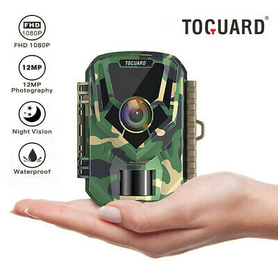 TOGUARD Trail Camera 12MP 1080P Infrared Night Vision Game Wildlife Hunting Cam