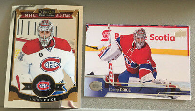 2 CAREY PRICE 2016-7 Upper Deck #349, 2015-6 OPC Platinum #75 Montreal Canadiens