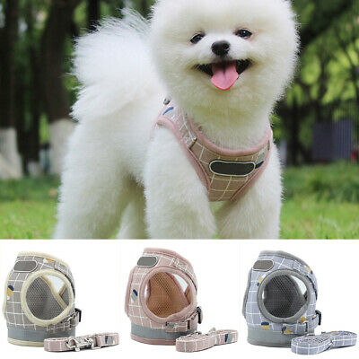 Puppy Small Dog Cat Harness+Walking Leads Set Pet Breathable Mesh Vest XMAS Gift