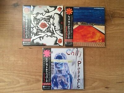 Red Hot Chili Peppers - 3 japanese edition albums