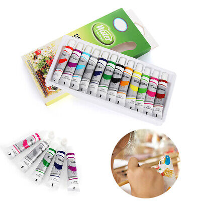 Tubes Artist Draw Pigment with Brush Watercolor paints Set Acrylic Oil Painting