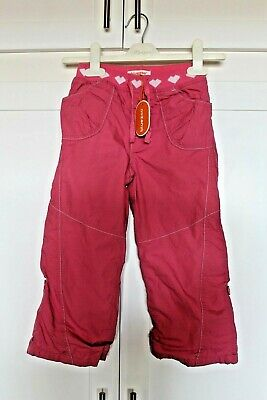 New Debenhams Blue Zoo Girls Trousers Age 3-4 Cotton Pink Elasticated Waistband