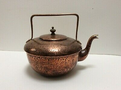 Benham And Froud Marked Planished Copper Kettle.