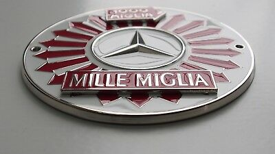 Mille Miglia classic Car Grill badge emblem badge for Mercedes grill badge