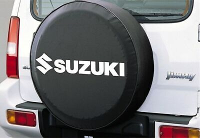 Genuine Suzuki JIMNY Soft Leather Spare Wheel Cover Black WHITE 99000-990YB-699