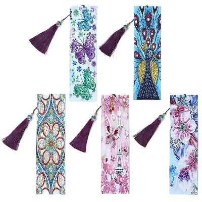 DIY Special Shaped Diamond Painting Leather Bookmark Tassel Book Marks