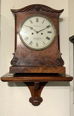 ENGLISH MAHOGANY FUSEE BRACKET CLOCK - Chas.BROOKES STAMFORD