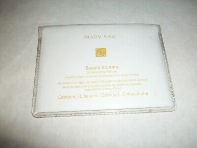 Mary Kay Beauty Blotters- Oil Absorbing Tissues- 75 Count- NEW--Fast FREE Ship