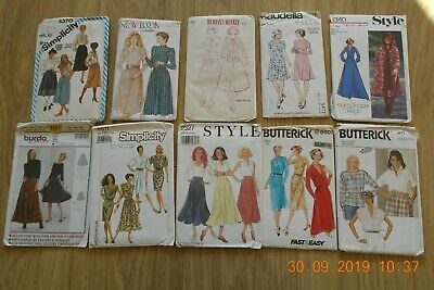 Joblot Ladies sewing Patterns. 10 patterns.(unchecked)