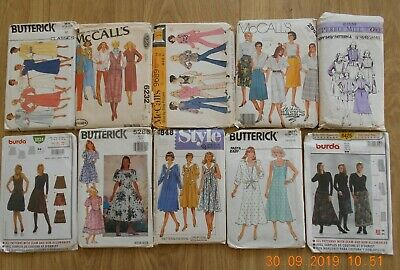 Joblot Ladies sewing Patterns. 10 patterns (unchecked)