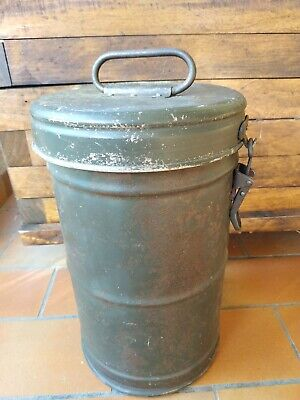Raro Thermos Tedesco Ww2 No Elmetto Tedesco Maschera Antigas