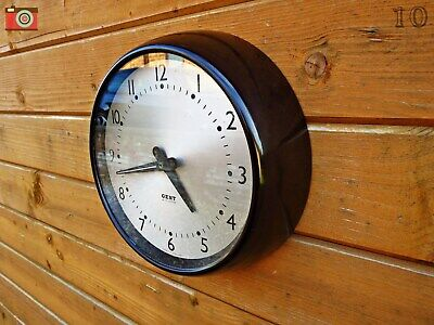 Vintage Gent Of Leicester Bakelite Wall Clock. Restored & Lovely! No Wires!