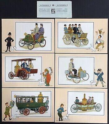 Tintin Chromos Voir and - Savoir Faire Automotive Origins to 1900 Series 10 Mint