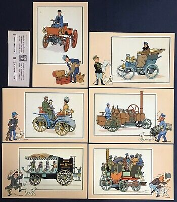 Tintin Chromos Voir and - Savoir Faire Automotive Origins to 1900 Series 8 Mint