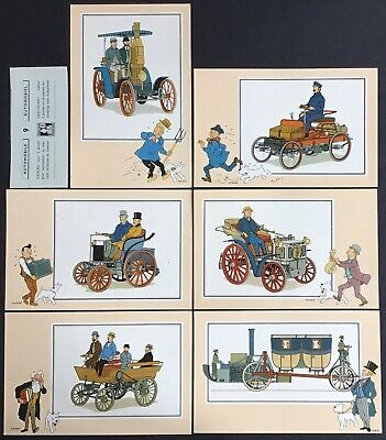 Tintin Chromos Voir and - Savoir Faire Automotive Origins to 1900 Series 9 Mint