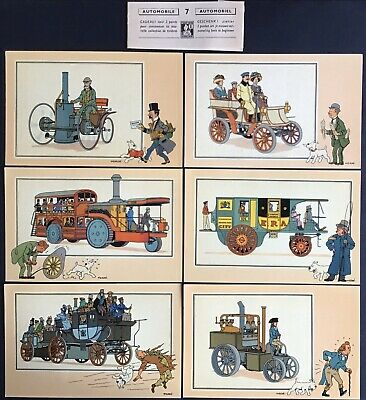 Tintin Chromos Voir and - Savoir Faire Automotive Origins to 1900 Series 7 Mint