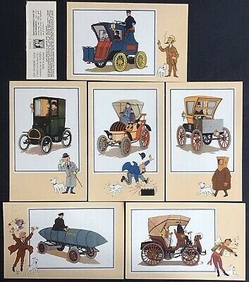 Tintin Chromos Voir and - Savoir Faire Automotive Origins to 1900 Series 3 Mint