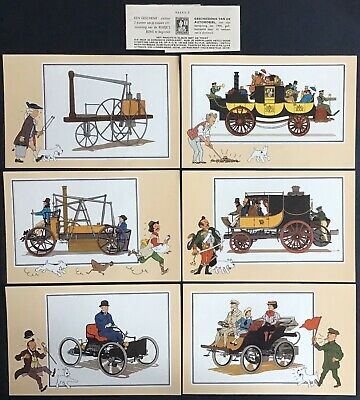Tintin Chromos Voir and - Savoir Faire Automotive Origins to 1900 Series 2 Mint