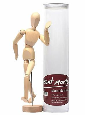 Mont Marte Male Mannikin 30cm Fully Adjustable Accurately Proportioned