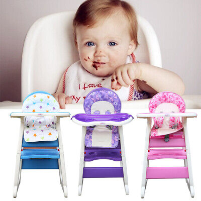 Practical Baby Highchair Infant High Feeding Seat 3 in 1 Toddler Table Chair